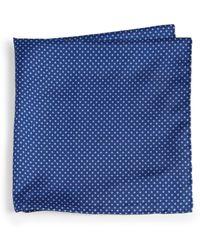 Brioni Silk Square Dot Pocket Square - Lyst