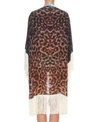 Athena Procopiou - Sigo Leopard Velvet-print Silk Cover-up - Lyst