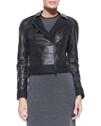 Tory Burch Lila Tiered Leather Jacket - Lyst