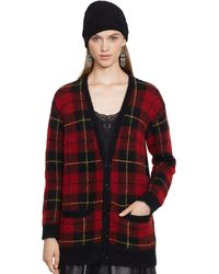 Polo Ralph Lauren Plaid Boyfriend Cardigan - Lyst