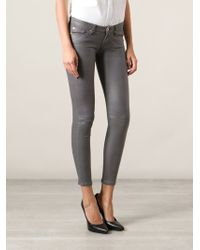 7 For All Mankind Coated Skinny Jeans - Lyst