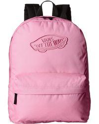 Vans Realm Backpack pink - Lyst