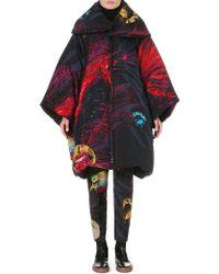 Yohji Yamamoto Oversized Printed Silk Coat - Lyst