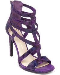 Jessica Simpson Marthena Heeled Sandals - Lyst