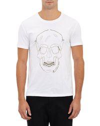 Alexander McQueen Zipper Skull Tshirt - Lyst