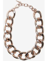 Fallon Chunky Chain Link Biker Choker gold - Lyst