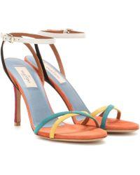 Valentino Suede Sandals - Lyst