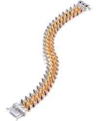 Eddie Borgo - 3-Strand Mini-Cone Mixed Metal Bracelet - Lyst