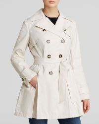 Laundry by Shelli Segal Coat - Double-Breasted Button Front Trench - Lyst