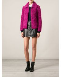 Pinko Textured Zip Jacket - Lyst
