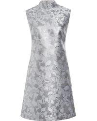 Mary Katrantzou Jacquard Mini Shift Dress - Lyst