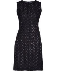 Gareth Pugh Black Short Dress - Lyst