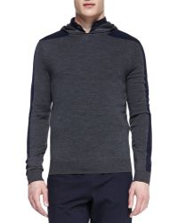 Vince Racing-stripe Hooded Pullover - Lyst