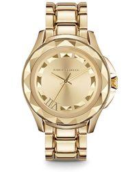 Karl Lagerfeld Gold Bracelet Unisex Watch - Lyst