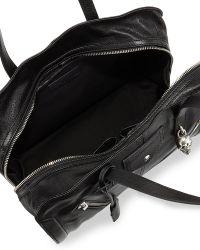 Alexander McQueen Padlock Biker Zip Satchel Bag - Lyst
