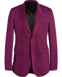 Burberry Prorsum Plum Slim-Fit Linen Jacket - Lyst