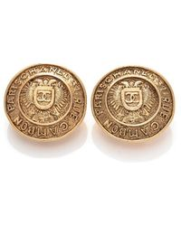 Chanel Pre-owned Medallion Clip-on Earrings - Lyst