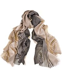 Black.co.uk Narrow Striped Hand Cashmere Shawl - Lyst