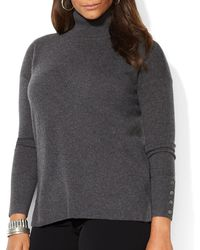 Ralph Lauren Lauren Plus Cashmere Turtleneck Sweater - Lyst