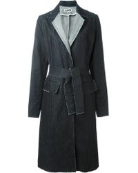 Etienne Deroeux - 'margot' Denim Coat - Lyst