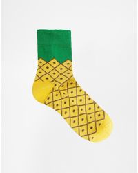 Asos M Pineapple Socks - Lyst