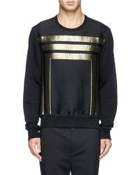 Alexander McQueen Metallic Stripe Sweatshirt - Lyst