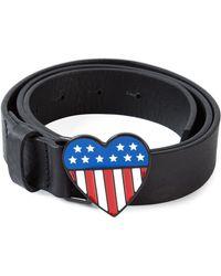Love Moschino Heart Plaque Belt - Lyst