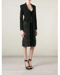 Yves Saint Laurent Vintage Ruched Pencil Skirt - Lyst
