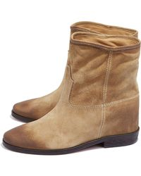 Scoop Suede Inner Wedge Boot - Lyst