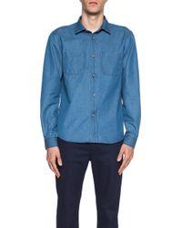 A.P.C. Men'S Gary Denim Shirt - Lyst