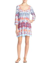 Blush By Profile - Stretch Modal Cover-up Dress - Lyst