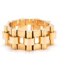 Fred Leighton - Estate Vintage 18K Yellow And Rose Gold Bracelet - Lyst