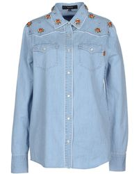 Gucci Denim Shirt blue - Lyst