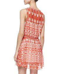 Townsen - Roots Tie-neck Printed Dress - Lyst