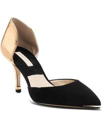 Michael Kors Scarlett Metallic Leather and Suede Pump - Lyst