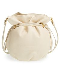 Hobo Mesa Leather Bucket Bag beige - Lyst