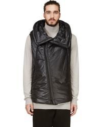 Nude:mm - Black Wire Hood Puffer Vest - Lyst