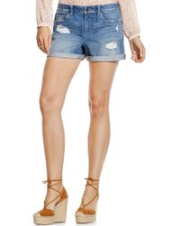 Two By Vince Camuto | Distressed Roll Cuff Denim Shorts | Lyst