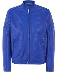 Just Cavalli Leather Biker Jacket - Lyst