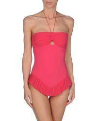 La Perla Pink Onepiece Suit - Lyst