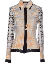 Versace Shirt orange - Lyst