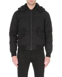 Sandro Quilted Bomber Jacket - For Men - Lyst