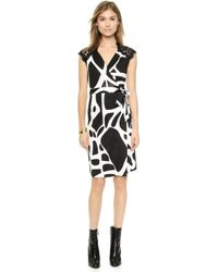 Diane von Furstenberg Olivier Wrap Dress - Black Lace Combo - Lyst