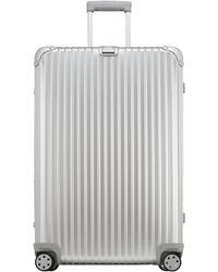 Rimowa Extra Large Silvertone Topas Suitcase - Lyst