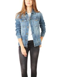 Current/Elliott Oversized Trucker Denim Jacket - Lyst
