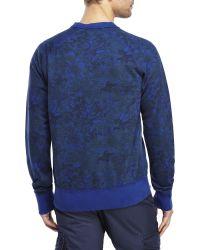 Dstrezzed - Blue Printed Raglan Sweatshirt - Lyst