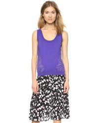 Nina Ricci Lace Inset Top Violet - Lyst