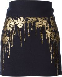 Blumarine Jacquard Detail Skirt - Lyst