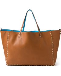 Valentino Large Rockstud Double Tote - Lyst