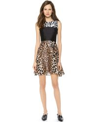 Rodarte Print Silk Dress Multi - Lyst